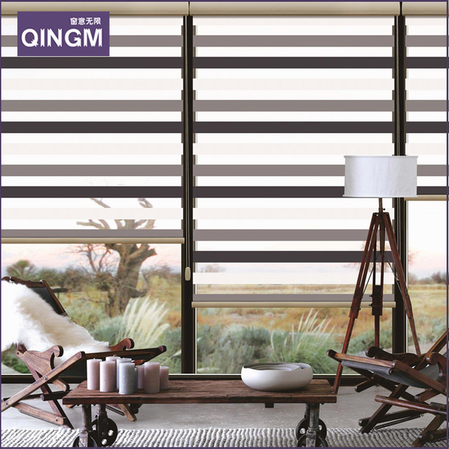 New Pattern Home Decor Zebra Blinds Double Layer Roller Curtains For Windows Venetian