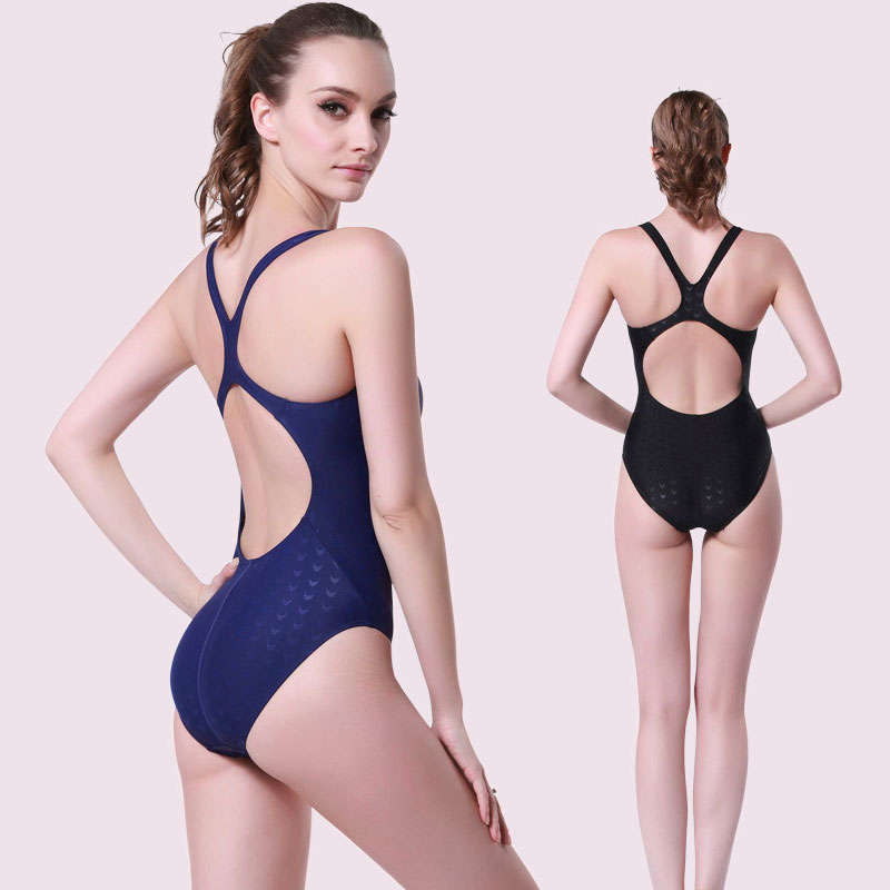 734ac77595 Women s Pro One Piece Swimsuit Lycra Swimwear Stretch Butterfly Back  Athletic Blue Black Swim Suits Girls Bathing Suit-in Body Suits from Sports  ...