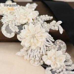 Image 4 - TOPQUEEN H346 Mode Bruids Haar Accessoires Voor Vrouwen kant Bloem met kralen Parel Haarband Bruid Hoge Kwaliteit Haar Sieraden