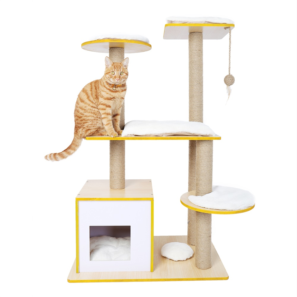Home Furniture Delivery: Domestic Delivery H 113cm Cat Tree Furniture Sisal Scratch
