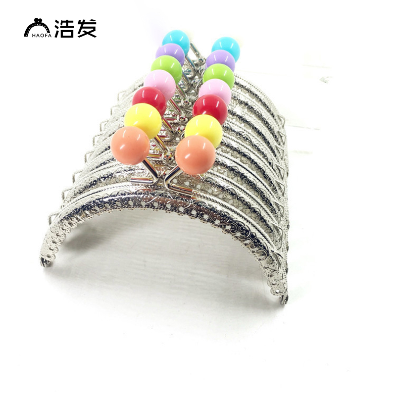 Haofa 10pcs 10.5cm  Candy Head 14MM Diameters Coin Purse Frames Metal Kiss Clasp Clutch Bags Frame Handbag Clasps Purse Handles