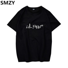 SMZY Lil Peep Tshirt Men Short Sleeve United States Popular Hip Hop T-shirt Men Cotton Fashion Great Rap Singer Mens Tee Shirts