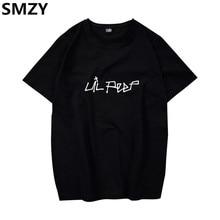 SMZY Lil Peep Tshirt Men Short Sleeve United States Popular Hip Hop T shirt Men Cotton
