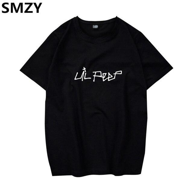 SMZY Lil Peep Tshirt Men Short Sleeve United States Popular Hip Hop T-shirt  Men Cotton Fashion Great Rap Singer Mens Tee Shirts c01dd7d70d7