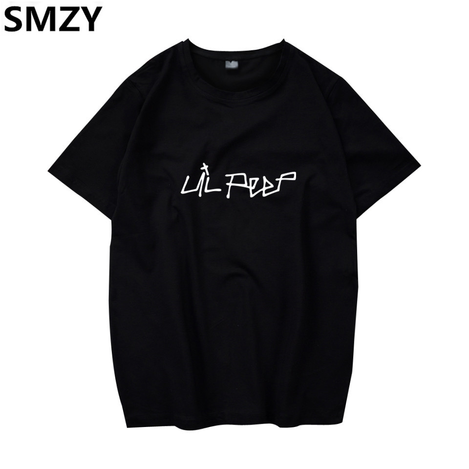 SMZY Lil Peep Tshirt Men Short Sleeve United States Popular Hip Hop   T  -  shirt   Men Cotton Fashion Great Rap Singer Mens Tee   Shirts