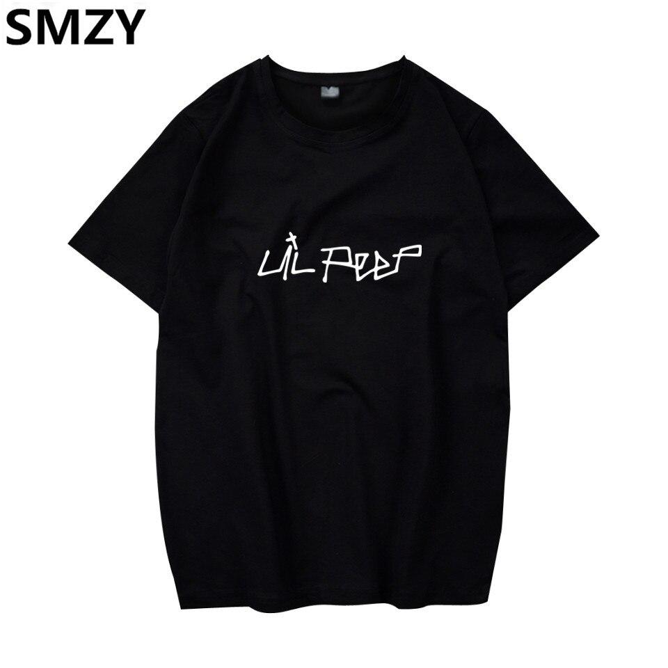 SMZY Lil Peep camiseta hombres manga corta Estados Unidos Popular Hip Hop Camiseta de algodón de los hombres de moda gran cantante de Rap para hombre camisetas