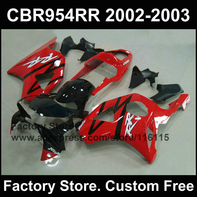 7Gifts Red Motorcycle Fairings For CBR 900RR 2002 2003 Fireblade 954 RR 02 03 Fairing Part