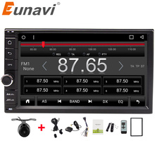 "Eunavi Quad core 7 ""Universal multimedia 2 din Android 6.0 Auto Radio Stereo Player Auto GPS-Navigation mit WIFI BT SWC FREIES KARTE"