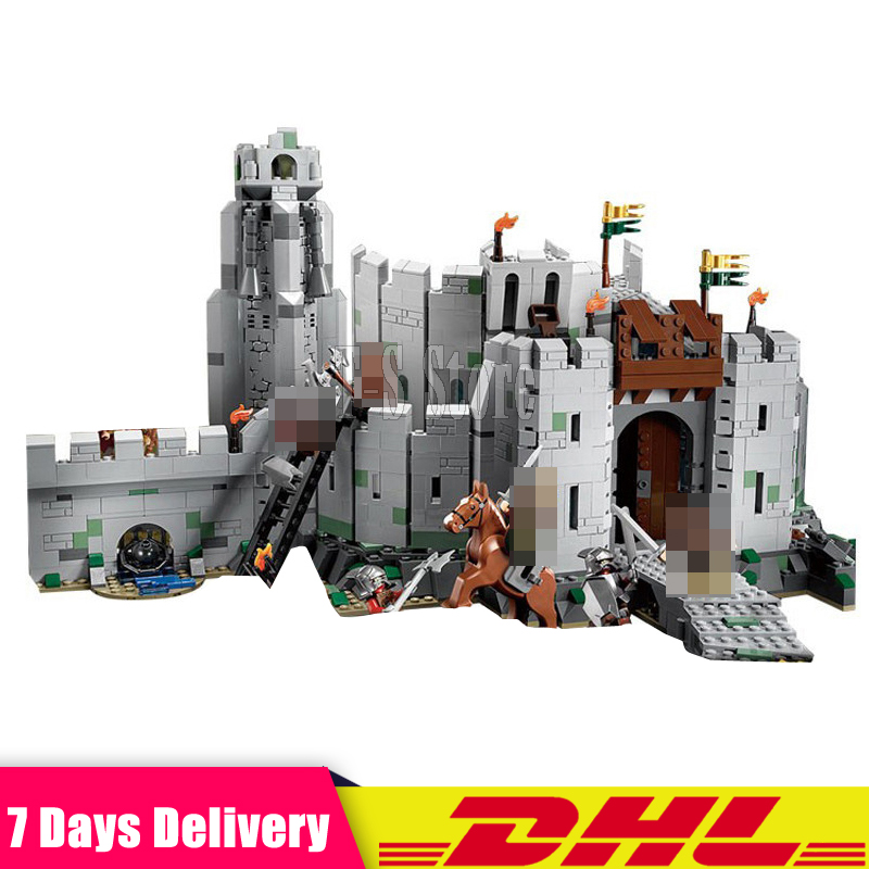 DHL IN STOCK Lepin 16013 The Lord of The Rings 1368Pcs Series The Battle of Helm' Deep Model Building Blocks Bricks Toys dhl lepin 18032 2932 pcs the mountain cave my worlds model building kit blocks bricks children toys clone21137 in stock