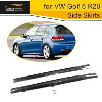 Carbon Fiber Car Side Skirts Body Lip Aprons for VW Golf 6 R20 Only 2010 2011 2012 2013