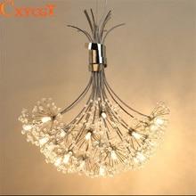 modernas luces colgantes de cristal led fixture para comedor cocina flor de diente de len diseo colgante lmpara colgante