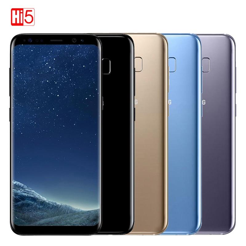 Оригинальный разблокированный смартфон Samsung Galaxy S8 Plus 4 ГБ ОЗУ 64 Гб ПЗУ 6,2 дюйма Восьмиядерный 4G LTE 3500 мАч