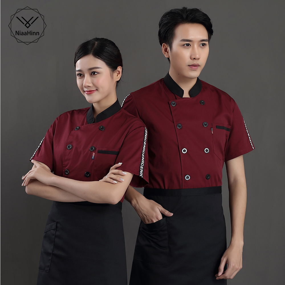 Factory Sales Chef Restaurant Uniform High Quality Breathable Shirt Men And Ms Hotel Kitchen Chef Shirt Short Sleeve Uniform