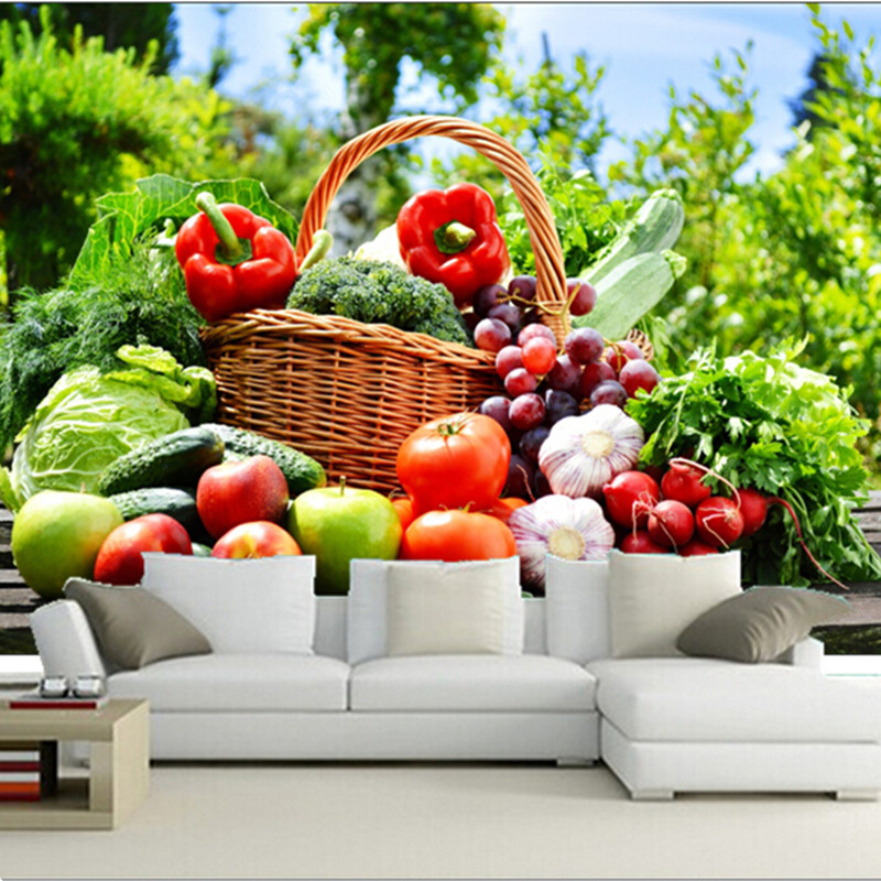 Attirant The Custom 3D Murals,All Kinds Of Fresh Fruits And Vegetables, Cafe Wall  Restaurant The Kitchen The Dining Room Wall Wallpaper In Wallpapers From  Home ...