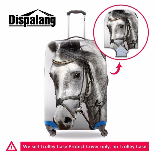 Cavalo bagagem do trole da bagagem tampas de proteção à prova d' água cobre Claro spandex Mala Capa Protetora Aplicar para 18-30 polegada