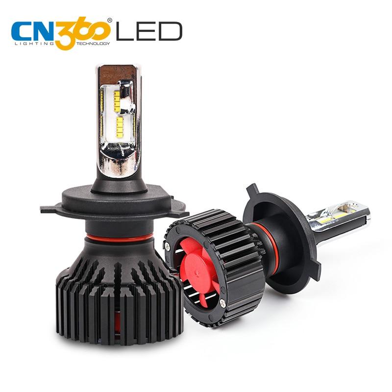 CN360 2 PCS Luz Do Carro LEVOU Farol H4 H7 H8 H9 H11 9005 HB3 HB4 9006 12 V 6500 K LED Auto Lâmpada de Farol de Nevoeiro Lâmpada 60 W 8000LM