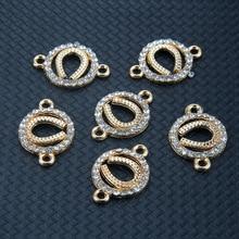 TJP 10pcs Gold U Shape Horseshoe Connectors Charms Pendants Double Sided for Bracelets DIY Jewelry Making Findings 23x16mm