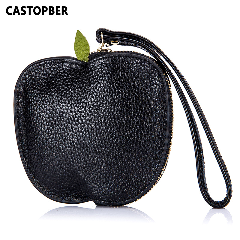 New Designer Cute Coin Purse Small Leather Woman Cow Genuine Leather Mini Changes Wrist Bag For Girls High Quality Key Wallets