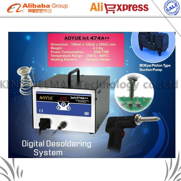 NEW AOYUE 474A++ Ddigital BGA Desoldering Station Electric Vacuum Desoldering Pump Solder Sucker Gun цены