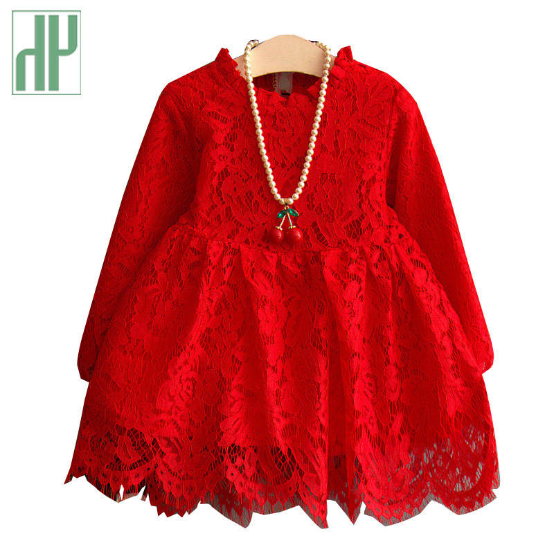 Toddler Girls lace dress evening new year princess costume for kids red white tutu dress long sleeve Birthday children clothing girls europe and the united states children s wear red princess long sleeve princess dress child kids clothing red bow lace