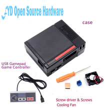 Wholesale Mini NES Case Retroflag Kit with Fan + Optional SNES / Turbo / 2.4G Wireless Game Controllers for Raspberry Pi 3/2/B+