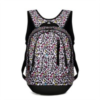 Advocator Business Laptop Soft Handle Backpack Female Nylon Leopard Printing Shoulder Bag Women Leisure Multifunction Bags