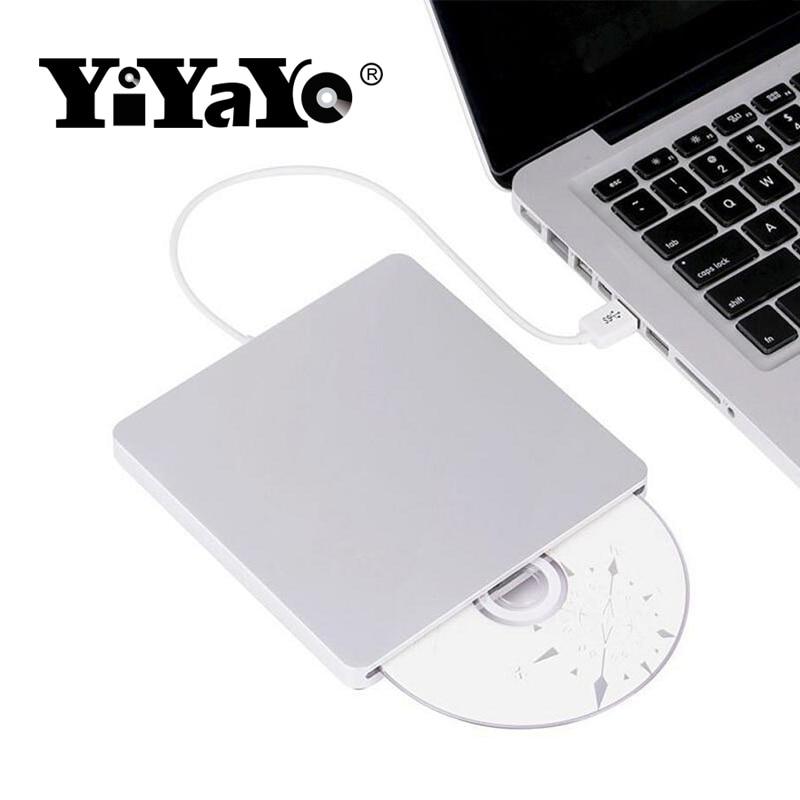 YiYaYo Bluray Drive External DVD RW Burner Writer Slot Load 3D Blue ray Combo USB 3