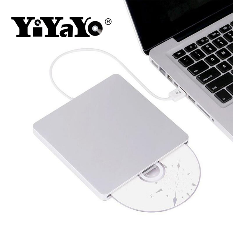 YiYaYo Bluray Drive External DVD RW Burner Writer Slot Load 3D Blue-ray Combo USB 3.0 BD-ROM Player for Macbook Pro Mac Laptop blu ray bd rw dvd rw external usb 3 0 apple macbook macbook pro for other laptop desktop with macbook air or usb port