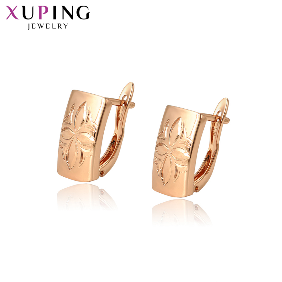 11.11 Deals Xuping Luxury Hoop Earrings Fashion Jewelry Rural Style for Women Bride Groom New Years Day Gifts S114,7-96977