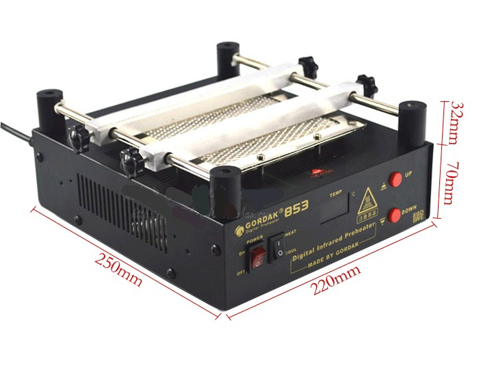 GORDAK 853 High power ESD BGA rework station PCB preheat and desoldering IR preheating station