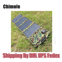 10pcs 14W 5V 18V Outdoor Solar Panel USB Charger Battery Power Bank Solar Charging Bag For Moible Phone Camping Travel Backpacks