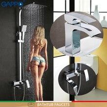 GAPPO bateria łazienkowa wanny mikser prysznic wodospad baterie umywalkowe kran do umywalki mikser zestaw prysznicowy z deszczownicą