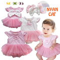 2016 Summer Baby clothing Newborn baby girl dress Angel wings cute Romper short-sleeved Romper baby jumpsuit