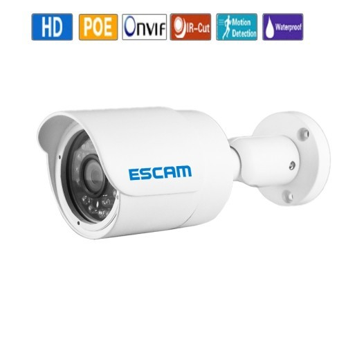 ESCAM HD3100 TI H.264 ONVIF POE 1080P IR Waterproof Mini Bullet IP Surveillance security camera