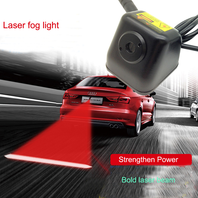 Car Anti-collision LED Laser Fog Lights Taillight Anti-fog Parking Stop Brake Lamps Warning Tail Light Car Styling Bold beam 40cm 21leds car solar flash lights led car knight rider warning light flash anti rear end accident taillight aj