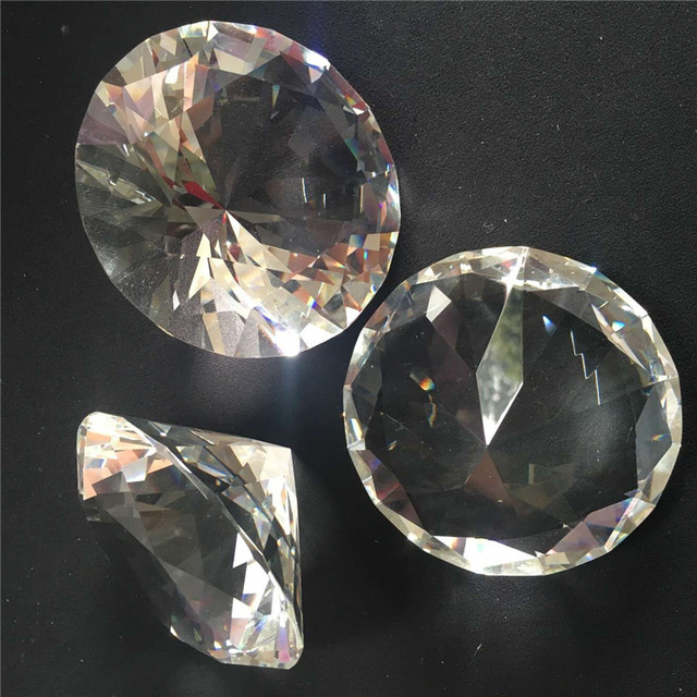 1pcs 150mm Clear Transparent Crystal Diamond Shining Stone Promotion Gift Crystal Diamond Paperweight