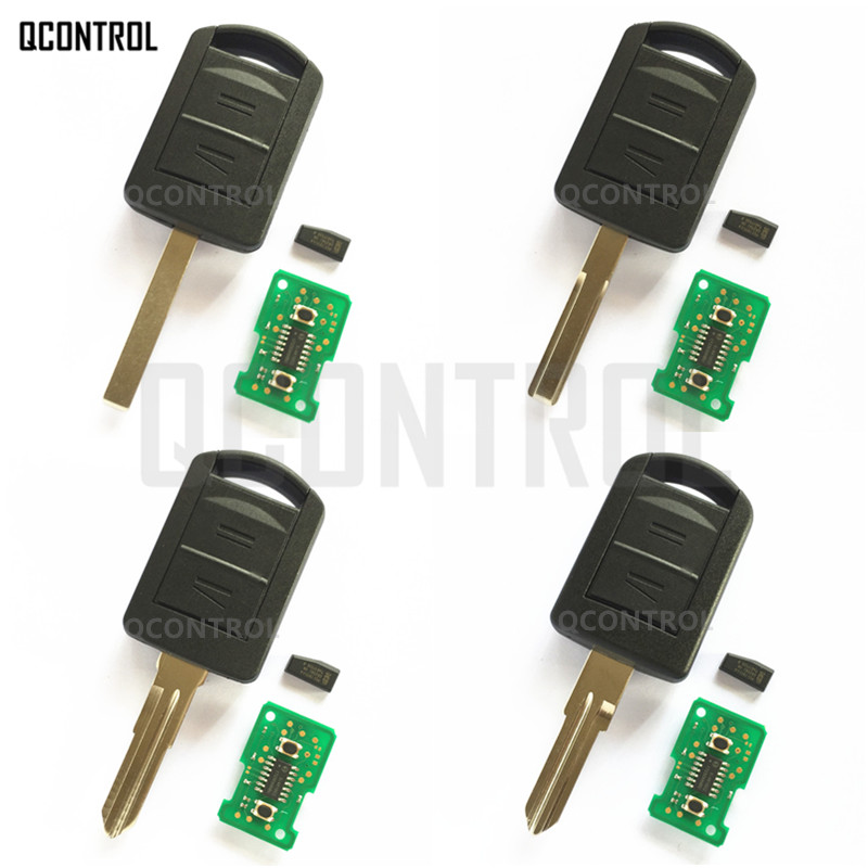 QCONTROL Remote Key for OPEL/VAUXHALL Car ASTRA CORSA C COMBO VAN MERIVA TIGRA VECTRA 433MHz with ID40 Chip
