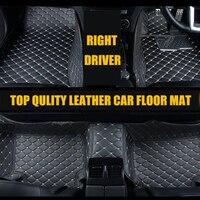Right Driver Car Styling Car Accessories Interior Leather Floor Mat 3D Car Floor Mats Custom Fit