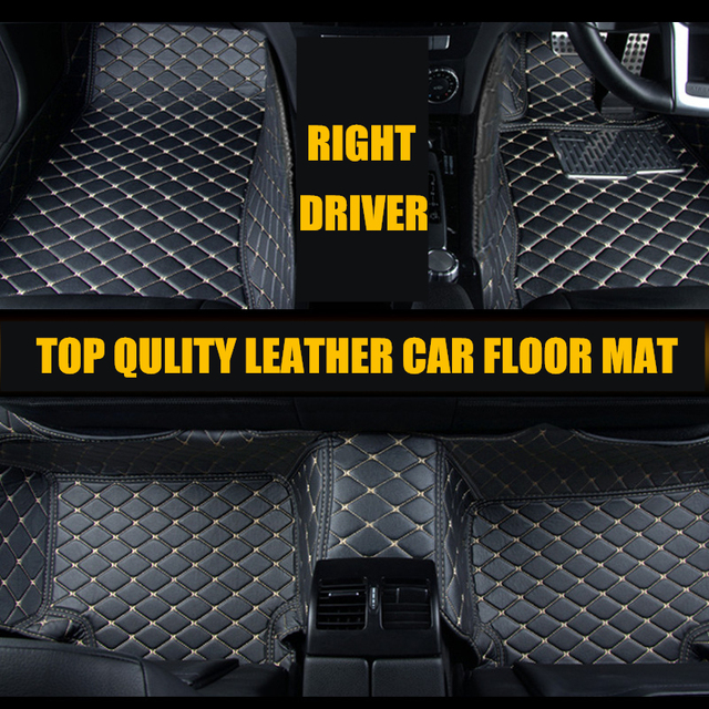 Right driver Car styling Car Accessories interior Leather floor mat ...