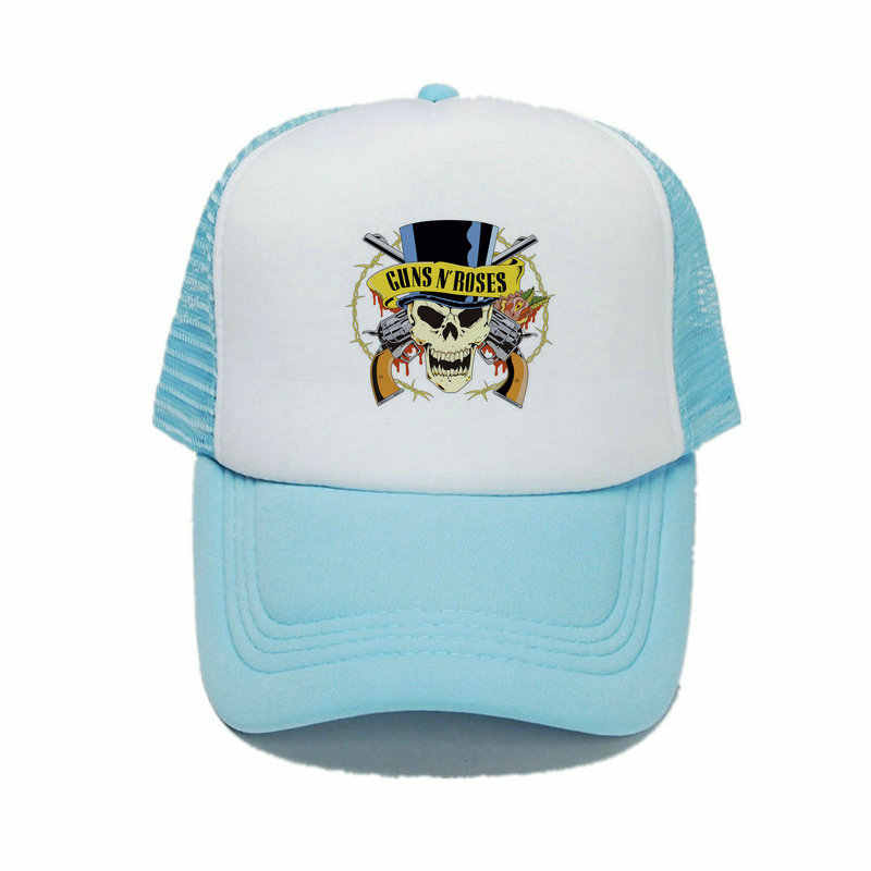 ... American Hard Rock Band Cap Hat Guns N  Roses Snapback Cap GNR Bullet  Black Trucker ... 5badc2cba1b5