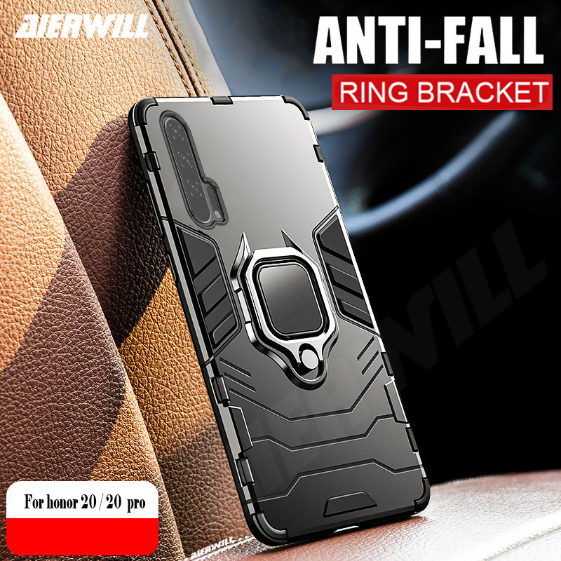 honor 20 Case For Huawei Honor 20 case Armor Ring Magnetic Car Hold Shockproof Bumper Phone Cover For Huawei Honor 20 Pro Case image