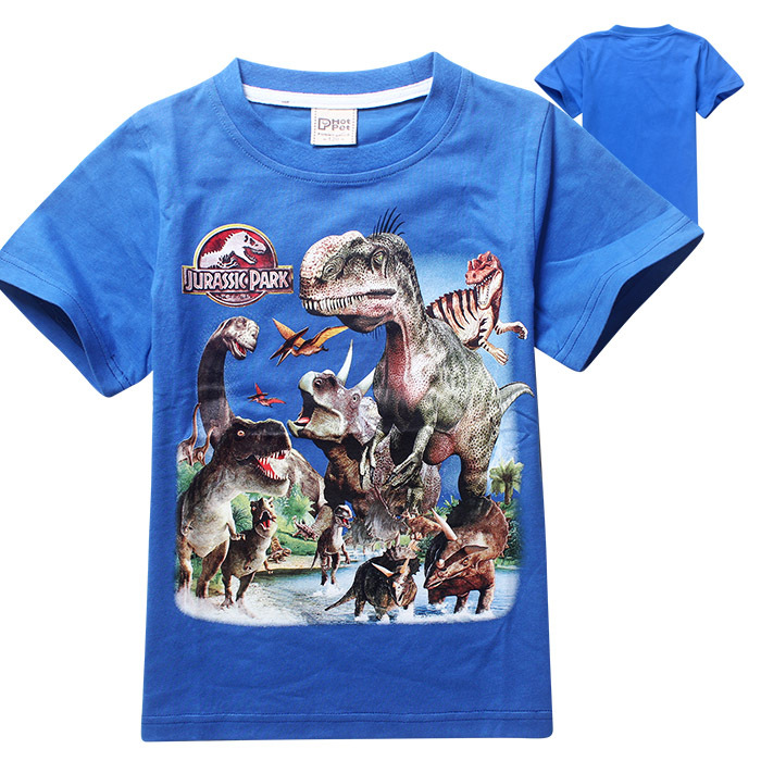 on feet images of latest cheaper Monde jurassique Garçons T shirt Enfant Manches Courtes ...