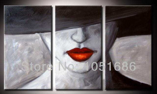 Ladies In Hats Oil Paintings