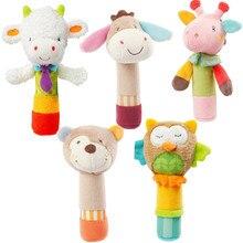 Игрушка BB палку Плюшевые мультфильм животных звук игрушки погремушка новорожденный стороны марионеточных просвещения плюшевая кукла ББ палки