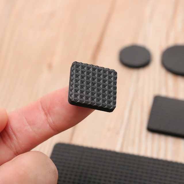 Hot 1/2/6/15/24PCS Soft Thickening Bumper Chair Fittings Self-adhesive Floor Protector Anti-slip Mat Anti Rub Furniture Leg Pads 2