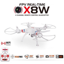 Venture WiFi FPV RC Drone SYMA X8W Real Time Video 2.4G 4CH 6 Axis Quadcopter Dengan 2MP HD Wide Angle Kamera Profesional