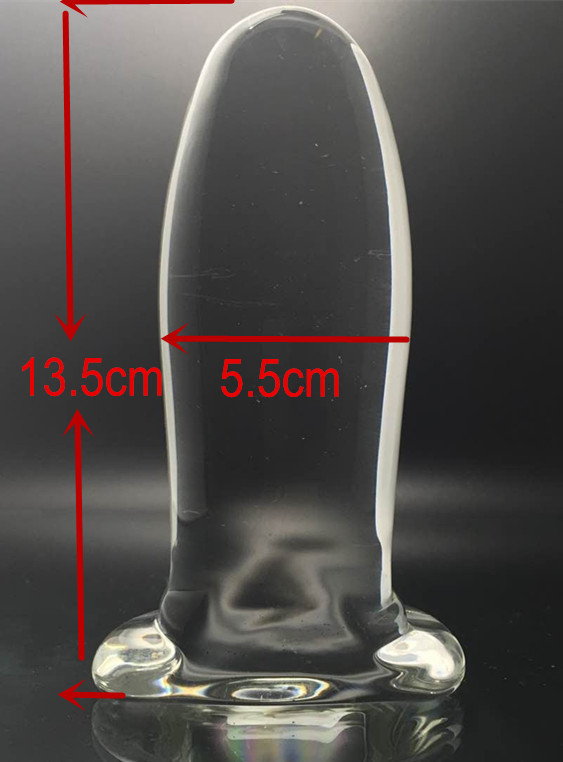 Dia 5.5 Big Glass Anal Beads Dildos Butt Plug In Adult Games,Sex Product Toys For Women And Men Gay - XJ03 7 87 5 5inch super big size silicone anal plug toys large butt plug sucker booty beads sex products for men and women