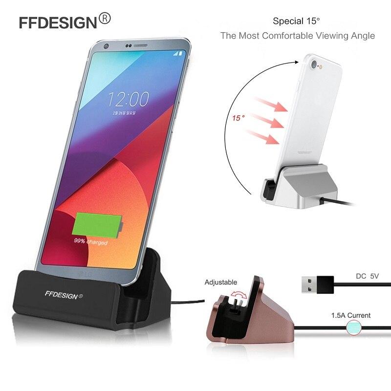 Telefone USB Carregador Doca Docking Station para LG G6 G5 G4 G3 G2 Mini K3 K4 K5 K7 K8 K10 2017 Suporte De Carregamento Doca Berço de Sincronização