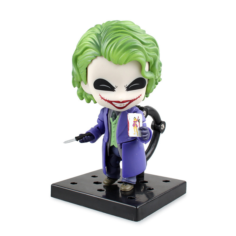 Nendoroid Batman The Dark Night The Joker Villains Edition #566 PVC Action Figure Superheros Model Kids Toys Doll 10cm