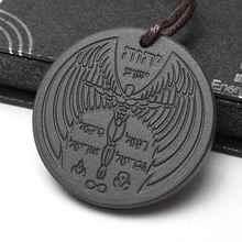 1 шт. Ангел духовного дизайн Квантовая наука скалярной подвески, заряжающие энергией Цепочки и ожерелья с Leather Rope Chain здравоохранения подвески ювелирные изделия
